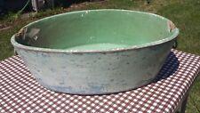 Pat. 1886 United Indurated Fibre Co. Wooden Baby Wash Tub Bath Bucket Farm Deco