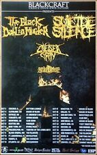 THE BLACK DAHLIA MURDER | SUICIDE SILENCE | CHELSEA GRIN 2014 Ltd Ed Tour Poster