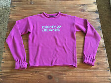 Used - Sweater DKNY JEANS Jersey - 100% Cotton - Size M - Pink color - Usado