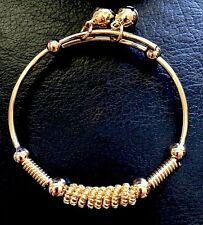 18k solid gold filled baby bracelet children bangle unisex FREE gift bag RRP$40