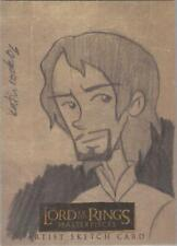 """Lord of the Rings Masterpieces - Katie Cook """"Aragorn"""" Sketch Card (b)"""
