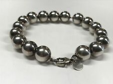 "Tiffany & Co. Sterling Silver 10mm Ball Beaded Bracelet (7.25"")"
