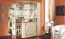 Bar Möbel Eck Wohnzimmer Bar Theke Spiegel Eco-Leder Front Hochglanz Italienisch