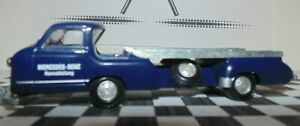 1/43 Conrad (Germany) Mercedes Car Transporter 1955 with Bonus Brumm #8 car