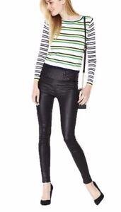 V by Very Greens Blue & White Striped Crew Neck Skinny Rib Jumper Plus Size 18