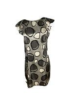Portmans Womens Size 10 Silk Feel Shift Dress Sleeveless Midi 70's Look