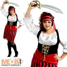 Ragazza Pirata Donna Costume ALTO MARE VOYAGER Buccaneer WOMANS Adulti Costume