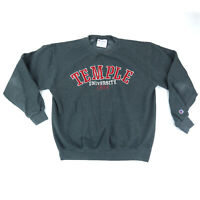 Temple University Champion Crewneck Sweatshirt Men's Medium Embroidered Gray