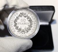 Coffret cadeau Pièce argent 50 francs Hercule années variées dans son écrin