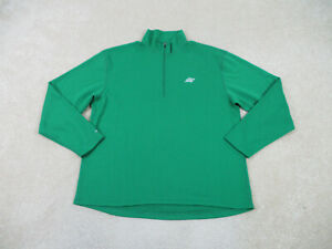Eastern Mountain Sports Sweater Adult Large Green EMS Outdoors Quarter Zip Mens