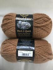 "Lion Brand Wool-Ease Thick & Quick Yarn 2 Skeins ""Goldenrod 187"" Same Dye Lot"