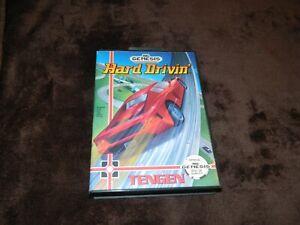 Sega Genesis Hard Drivin' Case and Manual ONLY