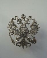 Cockade Coat of arms of the Russian Empire eagle silver copy