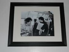 "Rolling Stones Keith Richards Mick Jagger 1989 on Plane Framed Print 14""x17"""