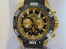 Invicta Men's 49mm Aviator Multi Function 18K Ion-Plated Gold SS Watch L@@K!!!
