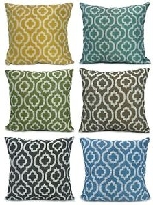 "Large Chenille Moroccan Diagona Scatter Cushions or Covers 17""X17"", 21""x21"""