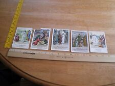 1900-1902 Little Peoples Lesson Pictures Sunday School cards lot of 5 Jesus Pete
