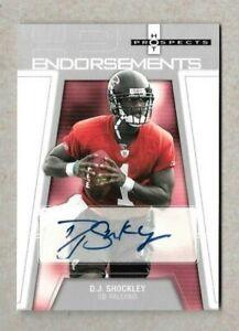 2006 Fleer Hot Prospects Rookie D.J. Shockley Atlanta Falcons Autograph
