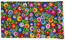 COTTON TABLE-RUNNER WITH PATTERNS inspired by Polish Folk Art from Lowicz BLACK