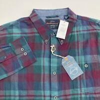 NEW Weatherproof Button Up Shirt Mens XXL Multicolor Plaid Long Sleeve Casual