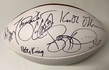 NBC Football Night in America signed white-panel NFL football Jerome Bettis