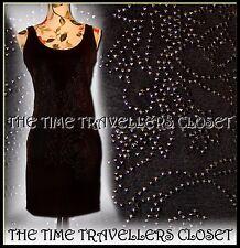 Topshop Kate Moss Black Stud Bead Longline Lightweight Vest Top / Dress UK 10 12