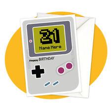 Gameboy - PERSONALISED BIRTHDAY CARD - personalised nintendo retro gamer console