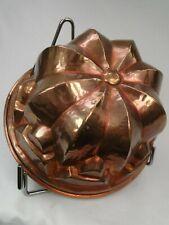 Superbe Moule ancien en cuivre XIXème, intérieur étamé fond 20.5cm