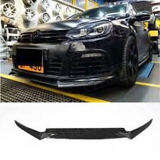 for VW Golf 6 GTI/ R20 2010 - 2013 Carbon Fiber Black Front Bumper Lip Spoiler