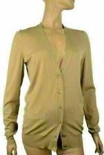 YVES SAINT LAURENT SWEATER YSL CARDIGAN BEIGE WOOL LONG SLEEVE $1,190 sz L Large