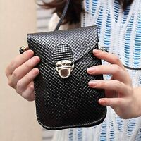 PU Leather Wallet  For Women Messenger Bag Shoulder Mobile Phone Bag Purse