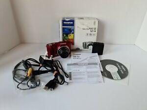 Olympus S Series SZ-14 14.0MP 24x Zoom Digital Camera - Dark Red