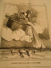 Caricature 1871 - Saint Medard s'heady to ne not believe with end of fire