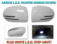 Arrow LED Painted White Mirror Cover+LED Step Light For 06-08 Mercedes W164 M/ML