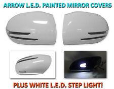 USA 06-08 W164 M/ML Arrow LED Side Painted White Mirror Cover + LED Step Light