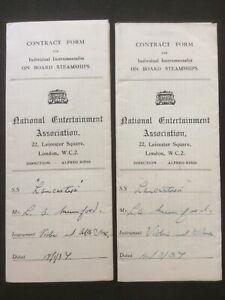 National Entertainment Association- RMS Lancastria Instrumentalist Contract 1937