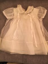 3 pc Vintage Baby Christening/ Baptismal Gown Carol Joy Creation - Size 0-3mo?
