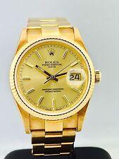 Rolex date 18kt amarillo oro vintage 15238 perfectamente condition unpoliert (untouched)