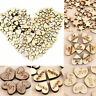 100pcs Rustic Wooden Love Heart Wedding Table Scatter Decorations Wood Crafts