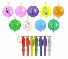 24 Large Punch Balloons Bouncy Children Party Bag Fillers Toys *Good Quality*