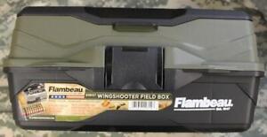 Flambeau 6381ST Wingshooter Field Box Fits 50 12 or 20 Ga Shells Hard Sided NEW!