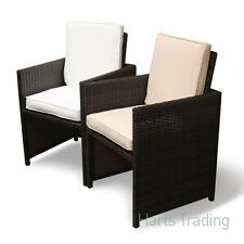 12 x Cushion cover designed for our Rattan Cube Set- 120cm table- Coffee / Cream