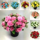 grave Artificial/Silk flower arrangement in grave memorial pot Mini-Carnation