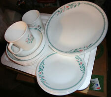18 pc corning corelle dinner set in ROSEMARIE: Plates Cereal & Berry Bowls & Mug