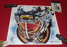 Ryan Miller signed auto poster photo Buffalo Sabres St. Louis Blues Wilson Farms