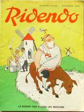 Ridendo n°234 - 1959 - Le bonnet par dessus les moulins  - illustration R.Lep -