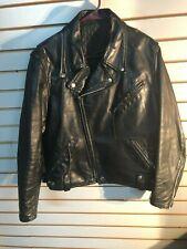 Vintage Men's B Brooks Leather Sportswear Black Leather Lined Motorcycle Jacket