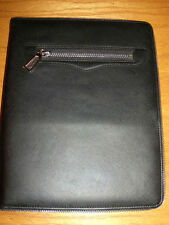 Black Leather Rebecca MInkoff Maddie Ipad Cover Folio Case