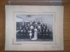 PHOTO ANCIENNE REF 197 - Mariage - Photo studio Dumont Bonnetable groupe