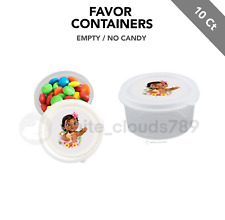 10 Baby Moana Party Favor Small Candy Containers 2.3 oz Fillable Gift Shower